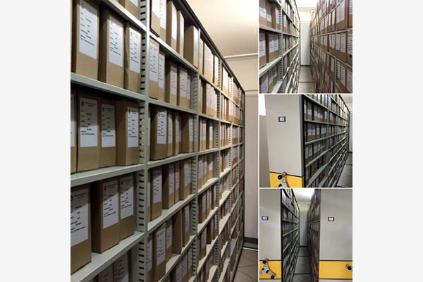 Imagem mostrando o arquivo organizado da Prefeitura Municipal de Marataízes/ES